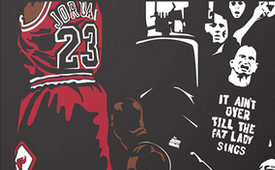 Michael Jordan 'It's Over' Illustration