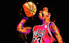 Michael Jordan 'Never Quit' Illustration