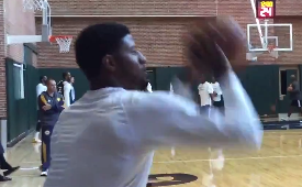 Paul George Already Back In the Gym Shooting