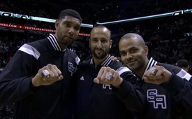 San Antonio Spurs 2013-2014 Championship Ring Ceremony