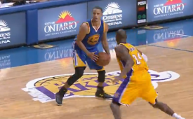 Stephen Curry Nails a Very Deep Three On Kobe Bryant