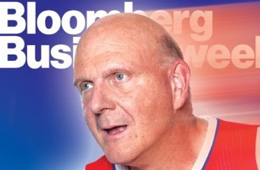 Clippers Owner Steve Ballmer Gets Cover of Bloomberg Businessweek