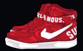 Supreme x Nike Air Force 1 High Caricature Art