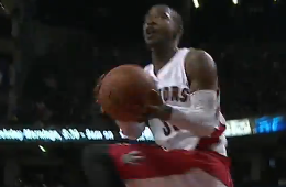 Terrence Ross Converts a 360 And-1 Layup