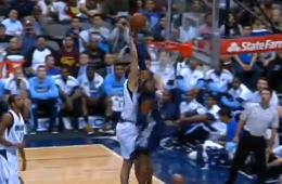Vince Carter Blocks Dirk Nowitzki at the Rim