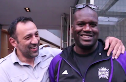 Vlade Divac and Shaquille O'Neal Enjoy Flop Jokes