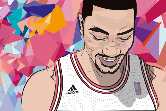 Derrick Rose 'Welcome Back' Illustration