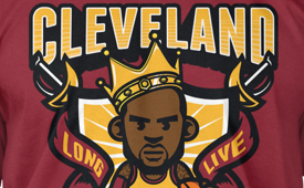 LeBron James 'King of Cleveland' Tee