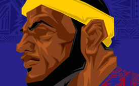 LeBron James '23' Caricature Art