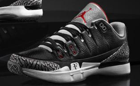NikeCourt Zoom Vapor AJ3 'Black Cement'