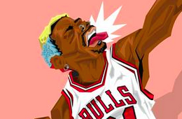 Dennis Rodman 'The Worm' Caricature Art