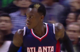 Dennis Schröder Dunks on the Spurs