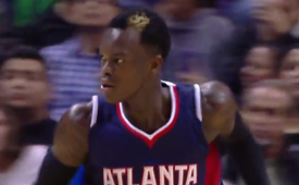 Dennis Schroder Dunks on the Spurs