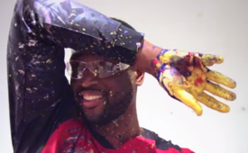 Dwyane Wade 'In the Paint' Abstract Art Collection