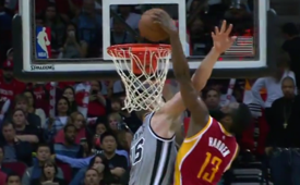 James Harden Slams On Aron Baynes