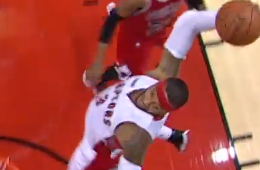 James Johnson Hammer Slams One on Bulls