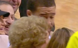 Javale McGee Kisses Denver Fan, During the Game