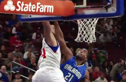 KJ McDaniels Finishes the Alley-oop on Mo Harkless
