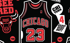 Michael Jordan x Chicago Bulls Fan Poster