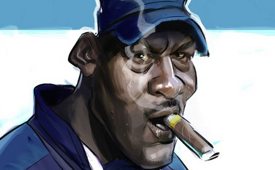 Michael Jordan 'Big Bad Boss' Caricature Art