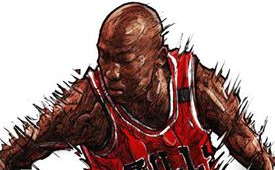Michael Jordan 'The Man' Illustration