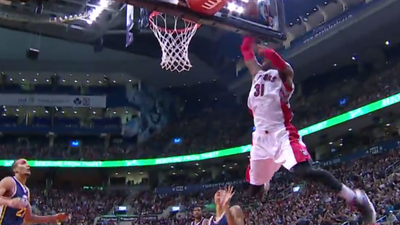 Kyle Lowry Connects With Terrence Ross