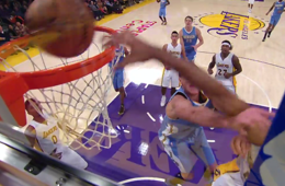 Wesley Johnson Dunks All Over Danilo Gallinari