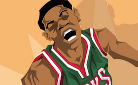 Giannis Antetokounmpo 'Greek Freak' Caricature Art
