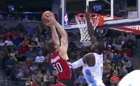 Tyler Hansbrough Dunks All Over JJ Hickson