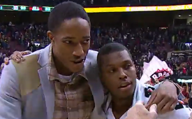 DeMar DeRozan Interviews Kyle Lowry
