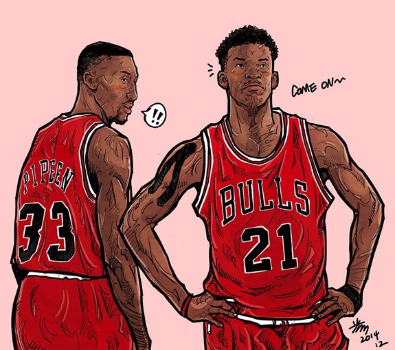 Jimmy Butler x Scottie Pippen 'Second Coming' Illustration