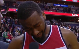 John Wall Overcome With Tears After Wizards Win