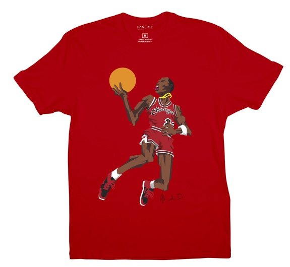 BlockNation Michael Jordan '1985 Slam Dunk Contest' Caricature Tee