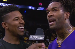 Nick Young Interviews Teammate Jordan Hill