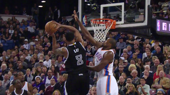 Rudy Gay Hammers One Down On Serge Ibaka