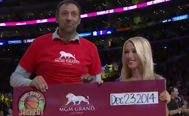 Vlade Divac Hits a $90K Halfcourt Shot For Charity