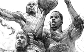 Air Jordan Athletes x Mythology Pencil Sketch