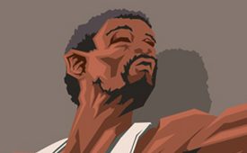 Bill Russell 'Celtics Icon' Caricature Art