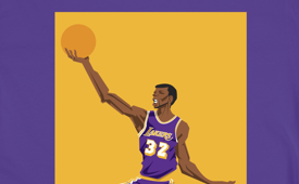 BlockNation Magic Johnson 'PG Icon' Tee