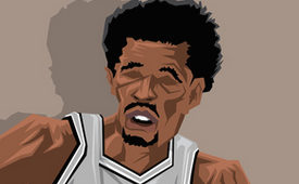 George Gervin 'Ice Man' Caricature Art