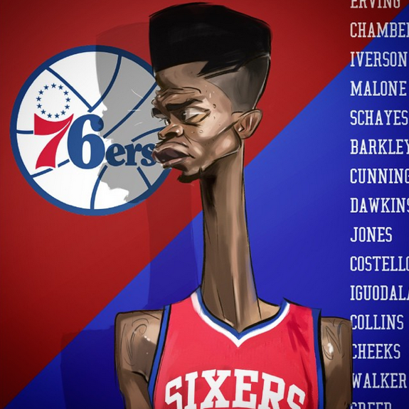 Nerlens Noel 'Giraffe' Illustration