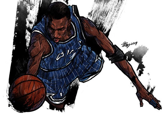 Penny Hardaway 'Orlando Magic Days' Illustration