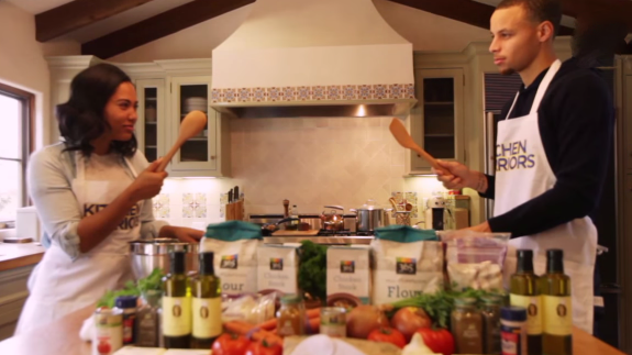 Stephen Curry vs. Ayesha Curry 'Kitchen Warriors'