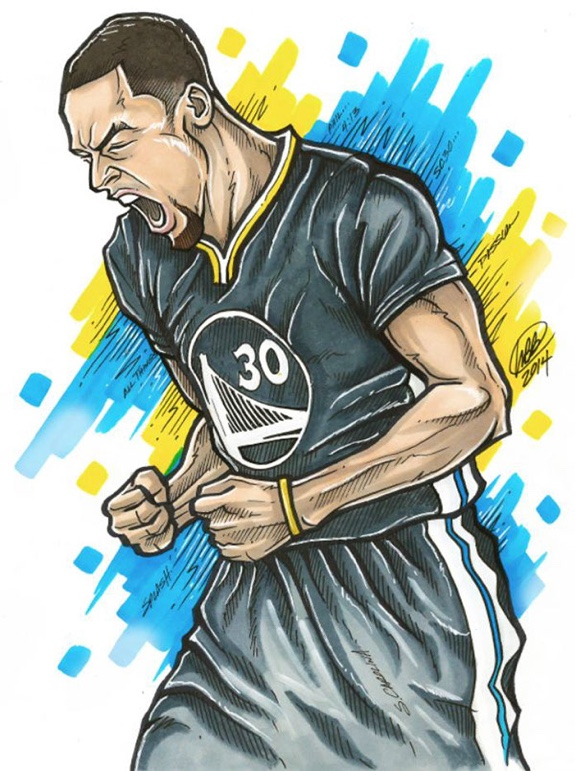 Stephen Curry Pure Passion Illustration