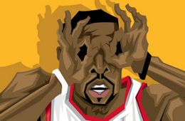 Wesley Matthews 'Iron Man' Caricature Art