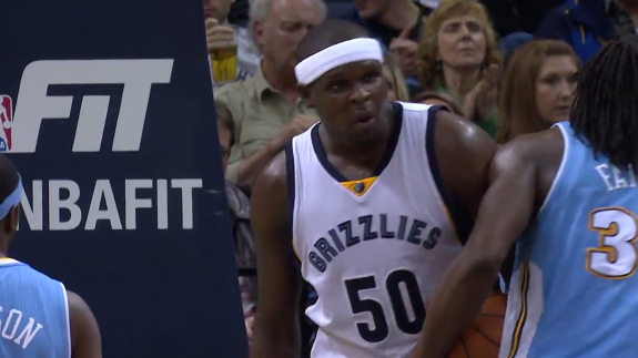 Zach Randolph Goes Double-Double on Nuggets