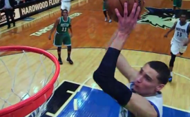 Zach Lavine Smashes a Half-Court Alley-Oop