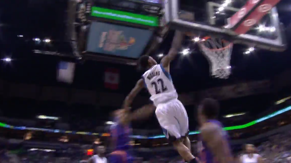Andrew Wiggins Skies For a Hammer Dunk