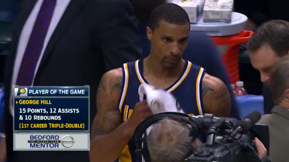 George Hill Gets First Career Triple-Double