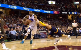 Andre Iguodala Leaves Dellavedova In the Dust